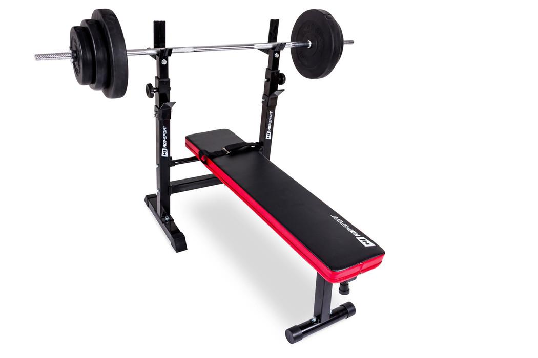 Набір Elitum TITAN штанга і гантелі 40 кг з лавою HS 1080