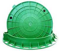 Крышка люка садового пластмассового (зеленая, А15)