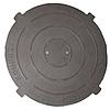 Крышка легкого люка полимерпесчаная черная Д- 630 мм