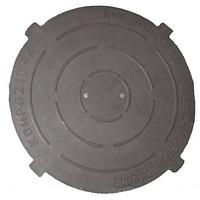 Крышка легкого люка полимерпесчаная черная Д- 620 мм