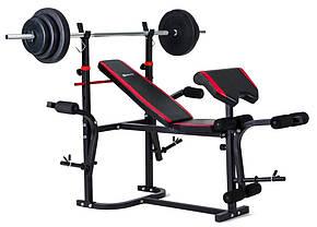 Набор Elitum TITAN 48 кг со скамьей HS-1055 + парта Скотта, фото 2