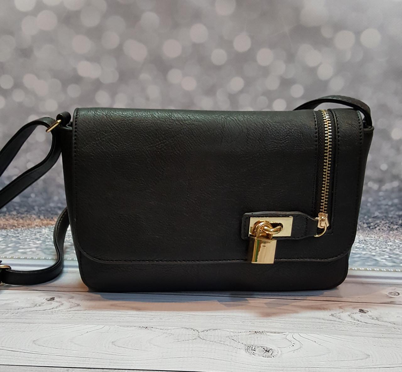 Черная женский сумка - клатч