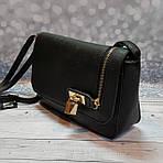 Черная женский сумка - клатч, фото 3