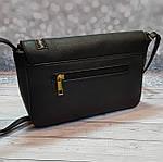 Черная женский сумка - клатч, фото 4
