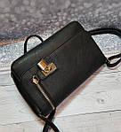 Черная женский сумка - клатч, фото 5