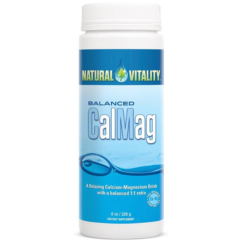 Natural Vitality, Баланс КальцийМагний, натуральный (без вкуса), 8 унций (226 г)