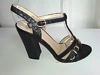 Чёрные босоножки Prado на высоком каблуке, фото 1