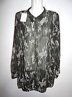 Блуза легкая фирменная женская Gina 56-58р.134ж
