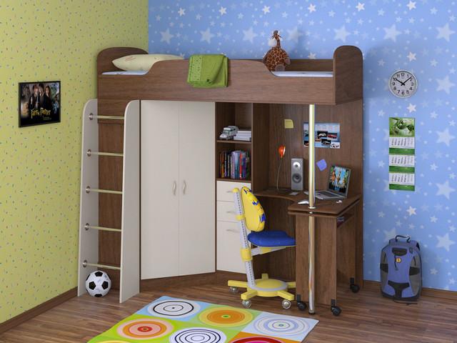 Кровати детские - одноярусные и двухъярусные - Серия ДСП