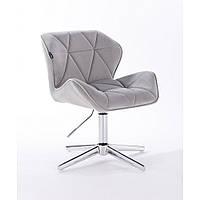 Кресло  HR 111 стальной велюр, фото 1