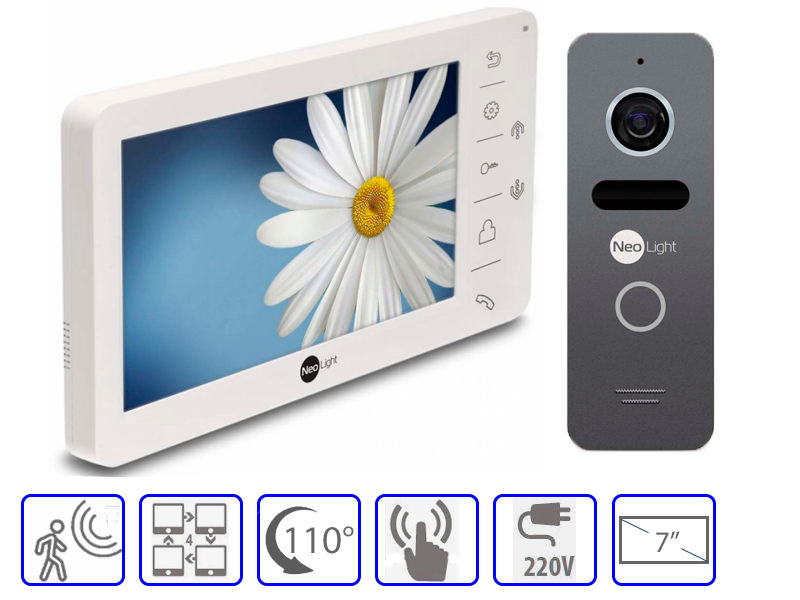 Комплект домофонной системы Neolight Kappa + Neolight SOLO