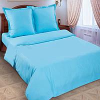 Полуторное постельное белье Лазурь, поплин 100%хлопок