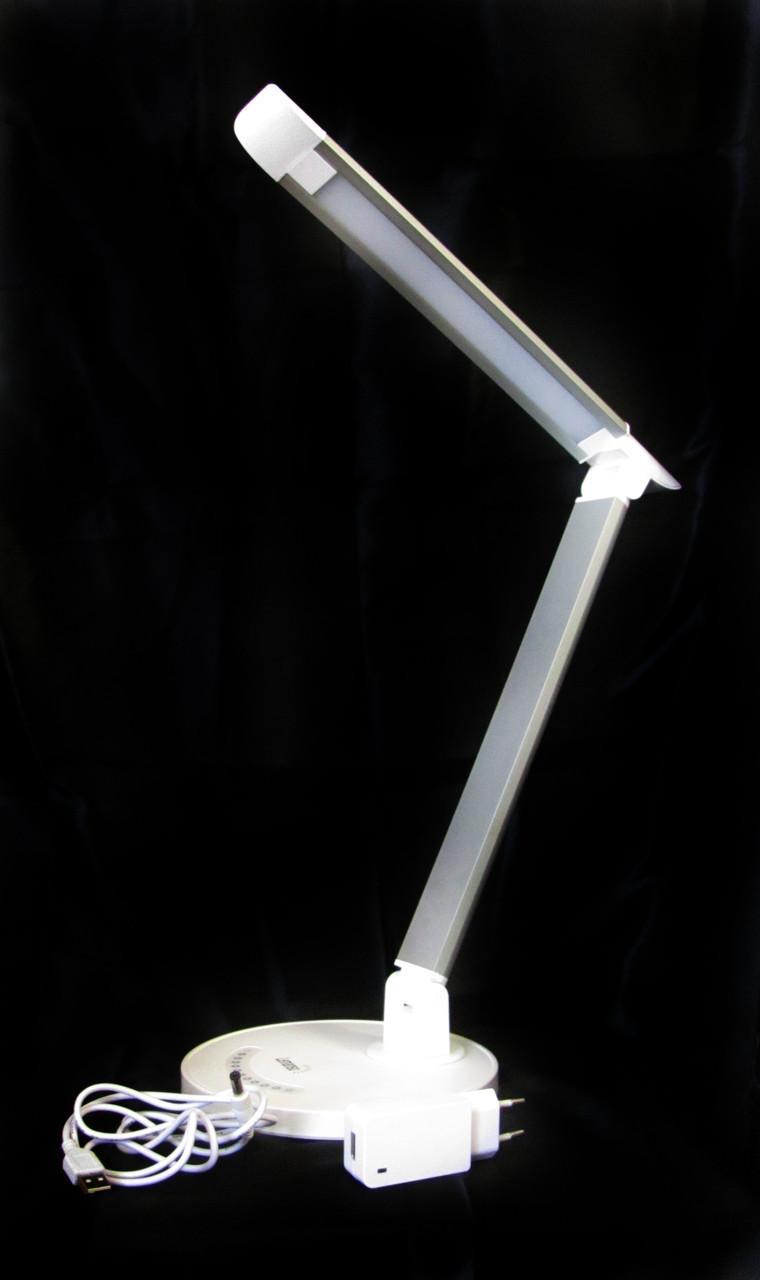 LED Светильник настольний LEMANSO 6W 300LM 6000K (серебро)