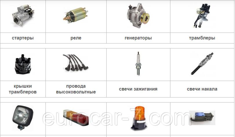Запчастини для електрообладнання навантажувача Komatsu