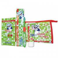 Детский набор по уходу за зубами Emoform actifluor YOUNGSTARS Set, Wild-Pharma