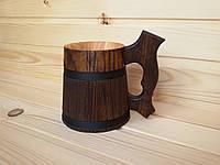 Деревянная пивная кружка 0.5 л ручной работы из дуба