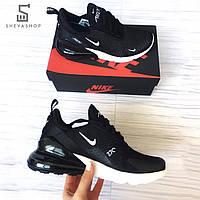Мужские кроссовки копия Nike Air Max 270, чёрные