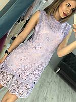Платье из кружева с цветочным узором