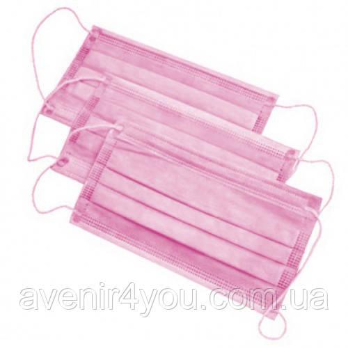 Защитная маска для лица, 50 шт Розовая