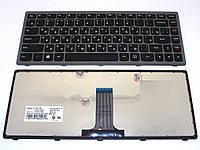 Клавиатура LENOVO IdeaPad Z410 ( RU Black, Серая рамка) . 25213957 9Z.NAASW.L0R Оригинальная клавиатура.