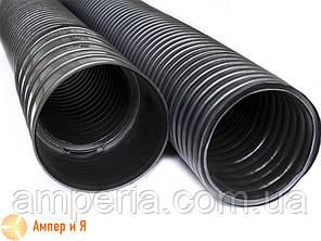 Двостінна гнучка гофрована труба з поліетилену, колір чорний, d50, з протяжкою DKC бухта 100м, фото 2