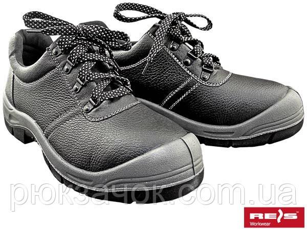 Ботинки кожаные Польша REIZ BRB 39-47, Туфли кожаные со стальным носком