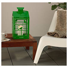 РАПТ Фонарь для формовой свечи, для дома/улицы зеленый, 46 см, 70259133, IKEA, ИКЕА, RAPPT, фото 2