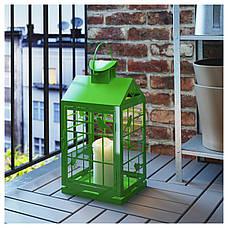 РАПТ Фонарь для формовой свечи, для дома/улицы зеленый, 46 см, 70259133, IKEA, ИКЕА, RAPPT, фото 3