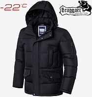 Стильная куртка большого размера Braggart Titans - 3284 черный, фото 1