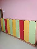 Дитячий шафа 5-ти секційний з кольоровими дверцятами. Шафи для роздягалень в дитячий садок, фото 8