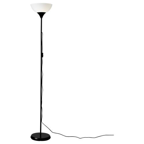НОТ Светильник напольный, черный, 20139874, IKEA, ИКЕА, NOT