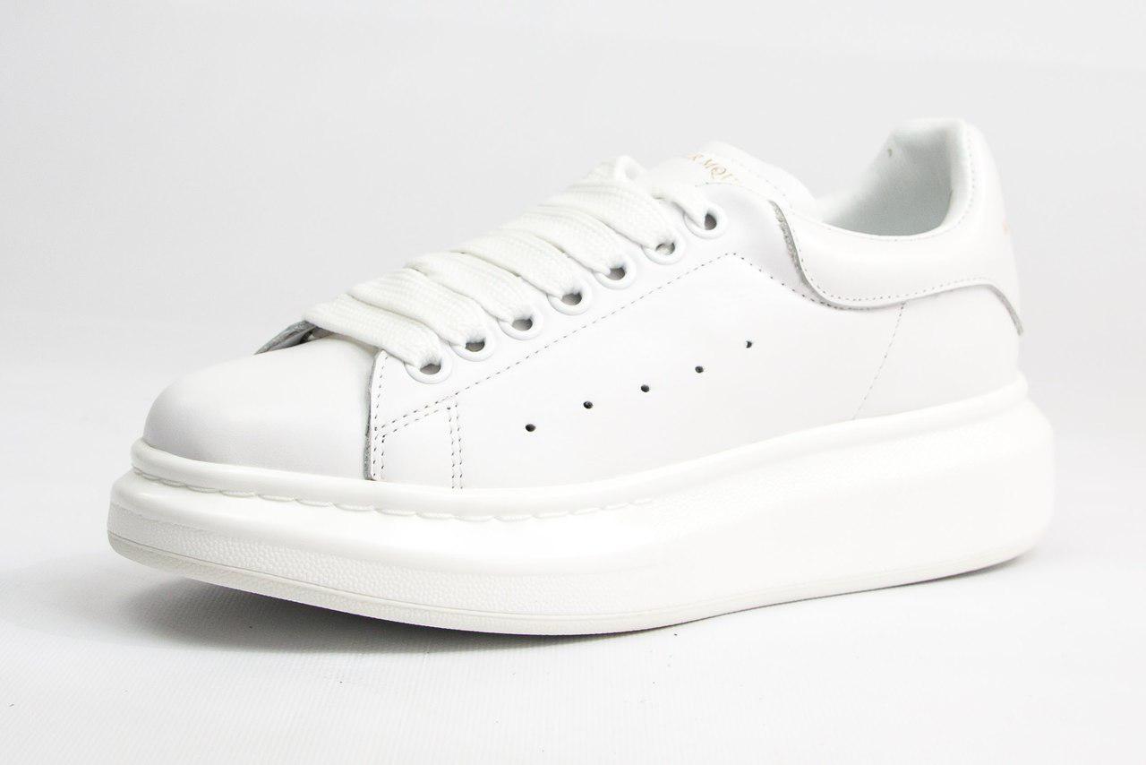 44b13d68 Женские кроссовки Alexander McQueen All White - Myjstore - твой интернет  магазин! в Киеве