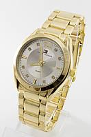Женские наручные часы Tomy Hiifiger золото с серебряным циферблатом, в стиле Томми Хилфигер