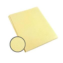 Профессиональная тряпочка для авто (Искусственная  замша- жёлтая) 40x50