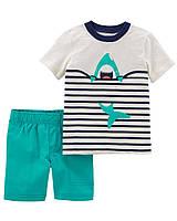 Летний костюм - шорты и футболка Carter's для мальчика