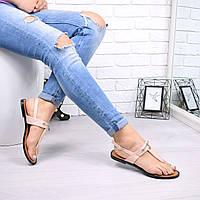 Босоножки женские Эрме пудра 4861, сандалии женские, фото 1