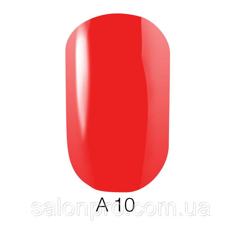 Гель-лак Naomi Aquaurelle №A10 (яркий алый, неоновый, акварель), 6 мл