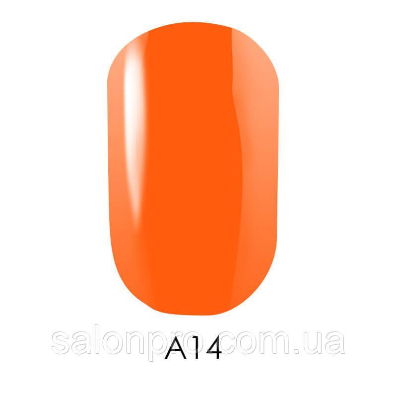 Гель-лак Naomi Aquaurelle №A14 (очень яркий оранжевый, неоновый, акварель), 6 мл