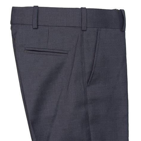 """Школьные брюки для мальчика  """"Милан""""синие в мелкую клетку, фото 2"""