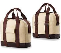 Бежево-коричневая женская сумка 67097r