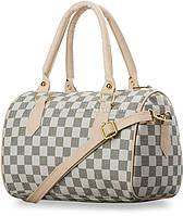 Черно-белая в клеточку женская сумка 67120r