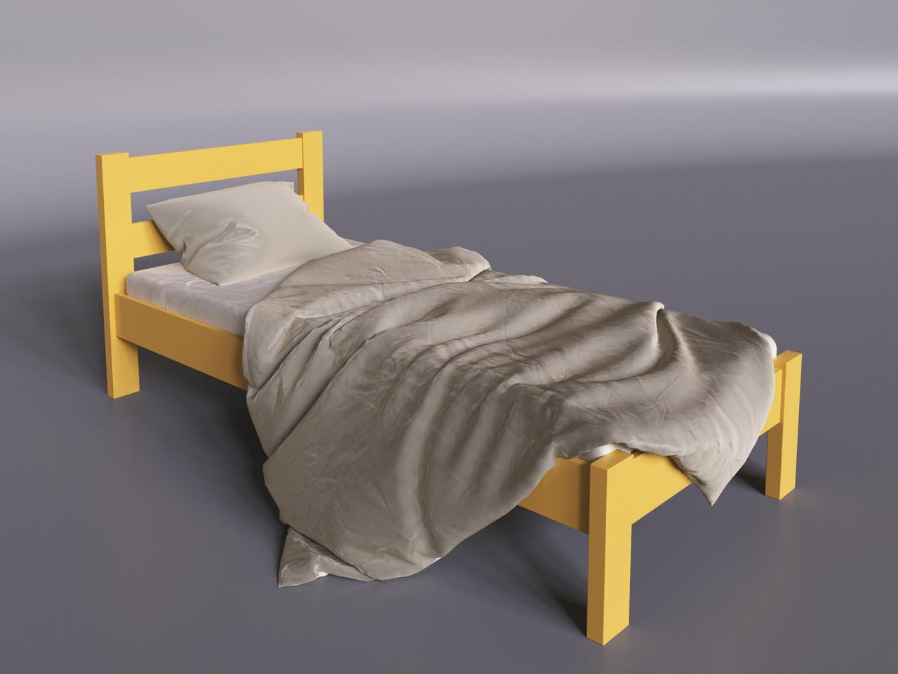 Дилайт-мини кровать Sentenzo 80х190 см желтая