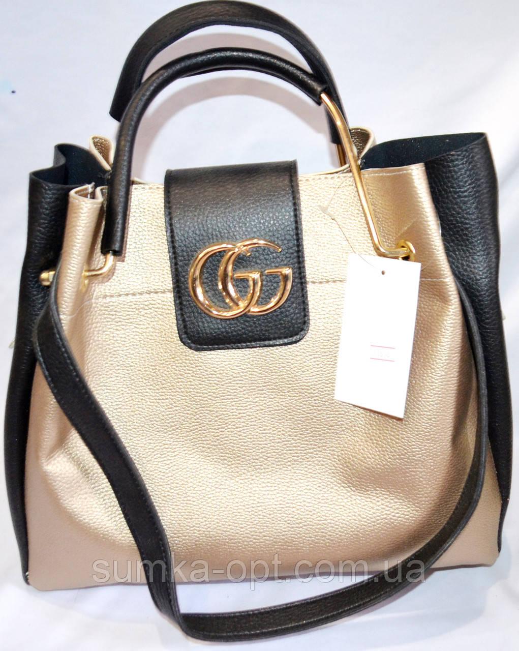 e03f2a29ab7f Женские сумки брендовые 2-в-1 Gucci (золото+черный)24 32, цена 430 ...
