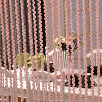 Шторы нити Спираль №5 Розовый