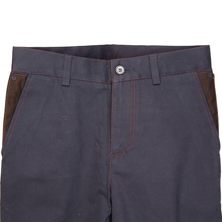 """Школьные брюки для мальчика """"Лидер"""" синие коттоновые, фото 2"""