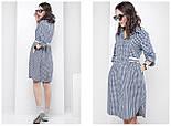 Женское платье-рубашка в клетку (3 цвета), фото 7