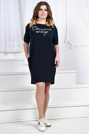 Платье с надписями и карманами, фото 2