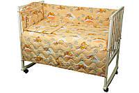 Постельный комплект в детскую кроватку (бортик, пододеяльник, наволочка, простынь) ТМ Руно 977У солодкий сон, фото 1