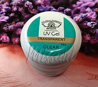 Однофазный гель для наращивания ногтей Прозрачный Global Fashion 56 грамм