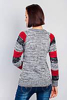 Свитер женский полоска 381F003 (Черно-белый) #I/M